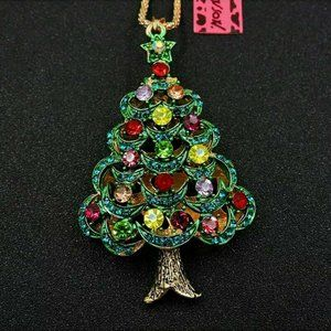Betsey Johnson Star Christmas Tree Necklace